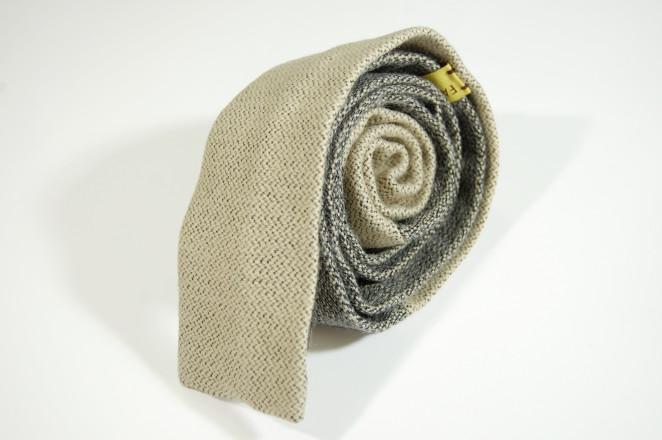 fatto rifatto udine_cravatta lana beige e grigio