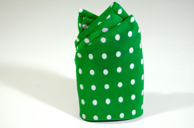 fatto rifatto udine_pochette verde pois