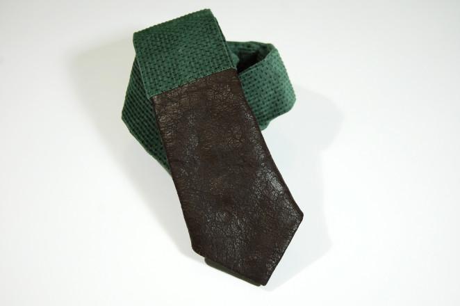 fatto rifatto udine_cravatta verde e pelle